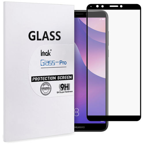 Full Fit Tempered Glass Screen Protector - Huawei Nova 2 Lite - Black